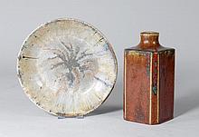 EMILE DECOEUR(1876 - 1953)VASE AND PLATTER, ca.