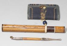 A KISERUZUTSU WITH PIPE AND TABAKO-IRE.
