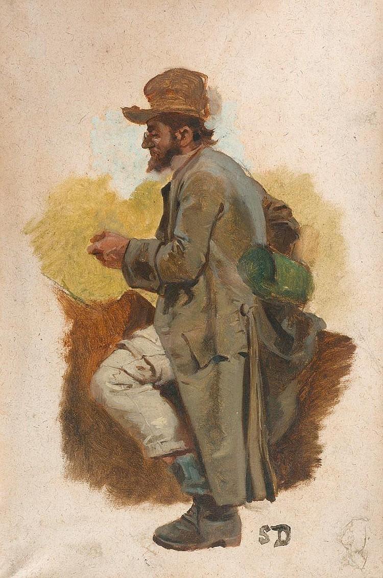 DURAND, SIMON (1838 Genf 1896) Zwei Studien zu