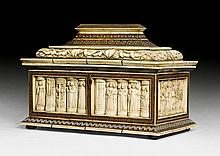 IMPORTANT WEDDING CASKET WITH RELIEFS IN BONE