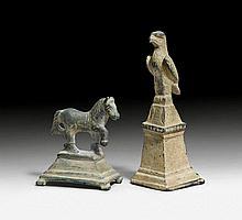 2 BRONZE FIGURINES, Roman, 2th/4th century A.D.