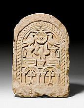STELE, Coptic, 6th/7th century A.D. Light beige