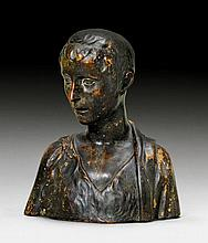 TERRACOTTA BUST OF A YOUTH, Renaissance, in the