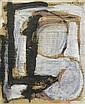 FRANZ KLINE 1910 - 1962 Untitled. Gouache on page