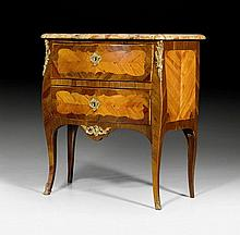 SMALL CHEST OF DRAWERS, Louis XV, with illegible