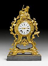 MANTEL CLOCK, Louis XV and later, the dial signed