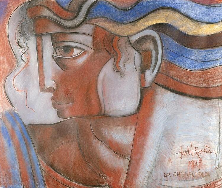 SZABÓ, ZOLTÁN (Born 1929). Portrait of a man.