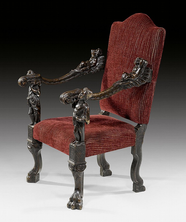 ARMCHAIR 'AUX ENFANTS', late Baroque, in the style
