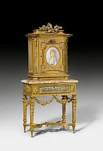 MINIATURE CABINET, in the style of Louis XVI,