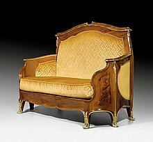 CANAPE, in the style of Louis XV, attributed to F.