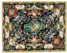 'PIETRA DURA' PLATE, after Renaissance designs,