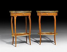 PAIR OF OVAL GUERIDONS, in the style of Louis XV,