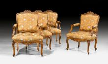 SERIES OF 4 LARGE FAUTEUILS