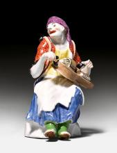 BEGGAR WOMAN WITH A HURDY-GURDY AND BAGPIPES ,