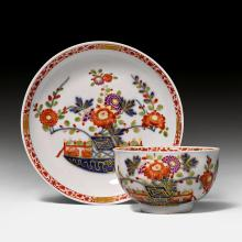 TEACUP AND SAUCER, 'TISCHCHEN' PATTERN,