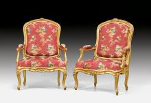 PAIR OF LARGE FAUTEUILS