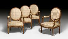 SET OF 4 LARGE FAUTEUILS