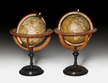 PAIR OF TERRESTRIAL AND CELESTIAL GLOBES,