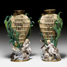 TWO LARGE VASES AS AN ALLEGORY OF WATER,