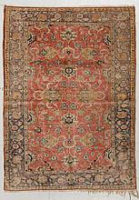 ANATOLIAN SILK antique. Dusky-pink central field,