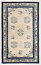 CHINA old. Beige ground, patterned with round