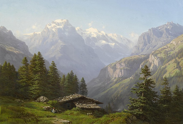 GEORGE, JEAN-PHILIPPE(1818 Geneva 1888)Alpine hut