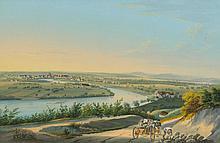 BASEL.- Anonymous, circa 1840. Vue de la Ville de
