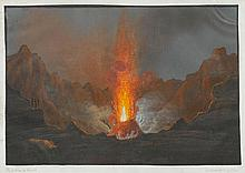 ITALY - NAPLES.- Gaetano Ferri, 1844. Il Cratere