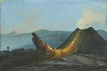 ITALY.- Anonymous, circa 1830/40. A volcano
