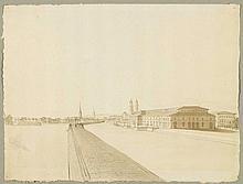 ZURICH.- Anonymous, circa 1840. Das neue Kornhaus.