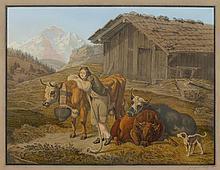 MAEHLY, JOHANN FRIEDRICH (1805 Basel 1848). Pair