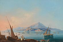ITALY - NAPLES.- Anonymous, circa 1850. View with