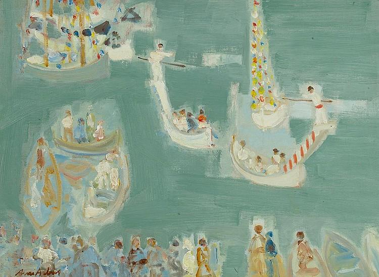 ARBAS, AVNI . (1919 Istanbul 2003). Venice. Oil on