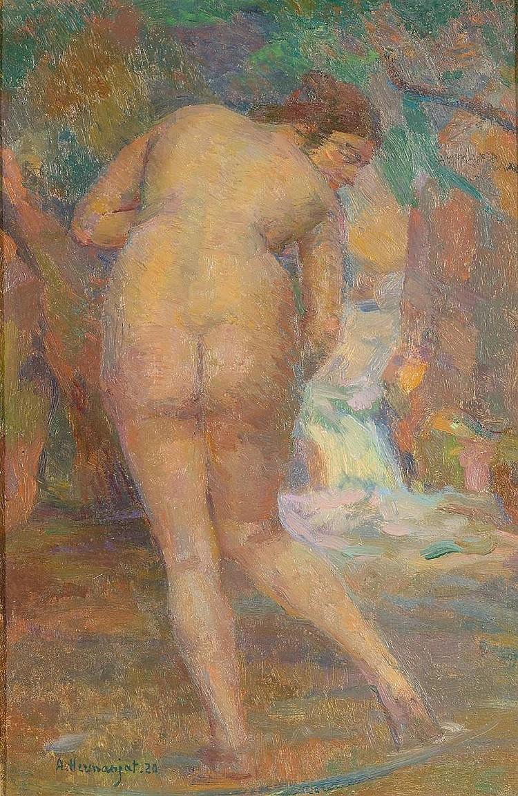 HERMANJAT, ABRAHAM . (Geneva 1862 - 1932 Aubonne).