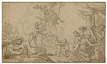 ITALIAN SCHOOL, 17TH CENTURY Park with Satyrs and
