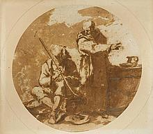 FRENCH SCHOOL, 17TH CENTURY Monk and beggar near a