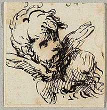 NEAPOLITAN SCHOOL, 17TH CENTURY Winged head of a