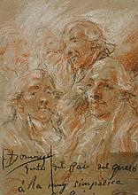 SPANISH SCHOOL, 18TH CENTURY Study for a group