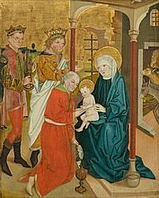 SÜDDEUTSCH, UM 1470 Anbetung der Heiligen Drei
