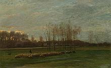 JACQUE, CHARLES ÉMILE (1813 Paris 1894) Herdsman