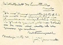 Giacometti, Giovanni, Maler (1868-1933). Eigenh.