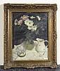 SEATON, PAUL RAYMOND Blumenstrauss in Vase auf einem Tisch. Öl auf Leinwand. 39,5 x 29,5 cm (Lichtmass)., Paul Seaton, Click for value