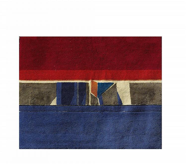 BAIER, JEAN.(1932 - 1999).RUG, Polychrome wool.