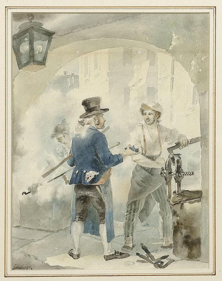 VOLMAR, GEORG (Mengen 1760 - 1832 Bern). Zwei