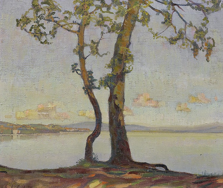 L'EPLATTENIER, CHARLES.(1874 - 1946).View of Lake