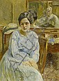 VAUTIER, OTTO.(1863 - 1919).The artist painting a, Otto (1863) Vautier, Click for value