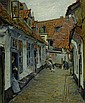 *HOENIGER, PAUL (1865 Berlin 1924) Dorfgasse. 1912. Öl auf Leinwand. 73,5 x 61 cm., Paul Hoeniger, Click for value