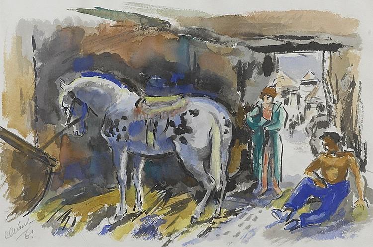 CLEMENT, CHARLES.(1889 - 1972).'Le repos au