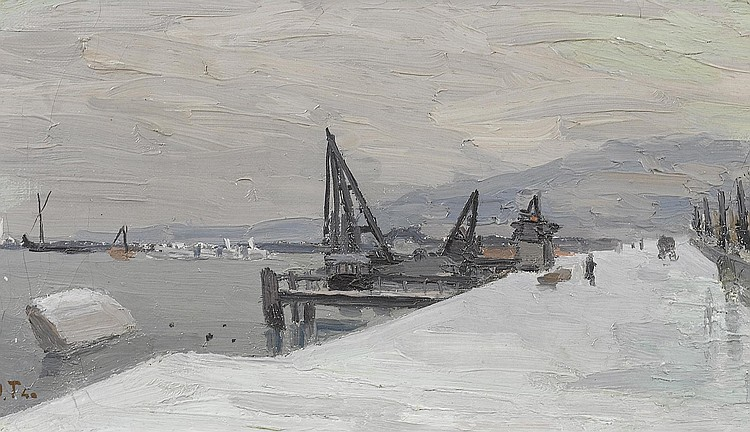 TORCAPEL, JOHN.(1881 - 1965).'Quai Gustave