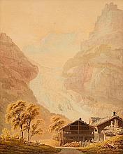 JUILLERAT, JACQUES HENRI (Motier 1777 - 1860 Bern). Alpengletsche